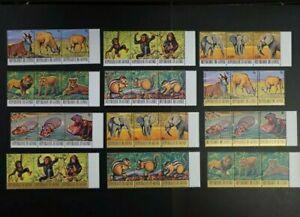 1977 Guinea Endangered Animals Set MNH