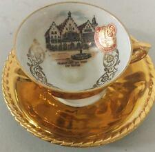 Frankfurt am Main Der Rumet China Tea Cup and Saucer Set