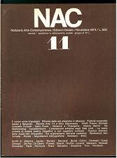 NAC ARTE CONTEMPORANEA NOVEMBRE 1974 N. 11 CIUSSI CEZANNE MARTINI