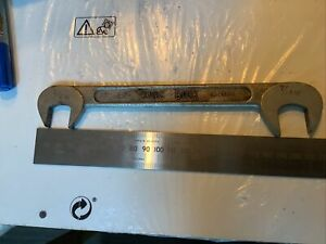 KING DICK WHITWORTH 90 Degree 3/8w 7/16w A2353 Spanner British Made  Open Ended