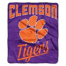 """Clemson Tigers Alumni 50"""" x 60"""" Raschel Plush Blanket by Northwest"""