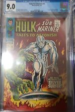 🔥🔥 CGC 9.0 Tales to Astonish # 93 (7/67) Hulk Silver Surfer White pages 🔥🔥