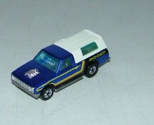 Vintage 1979 Hot Wheels HiRakers Blackwall Dodge D-50 Pickup with Bed Cap RARE