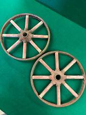 Antique / Vintage Set of Wooden Spoke Buggy Wheels