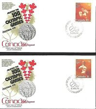 Canada 1975 3 First Day Covers & Card Olympic Games Montreal Semi-Postal