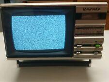 1984 Magnavox TV / Radio Vintage Black & White BD3911 SL01 Alarm Clock Tested
