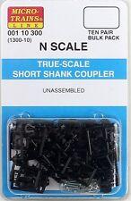 Micro-Trains N True-Scale Coupler w/Short Shank (10 Pair) (1300-10) MTL00110300