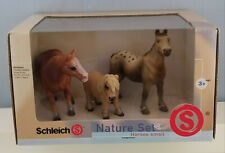 Schleich 40910 Horses Boxed Set Model Shetland Appaloosa Quarter Horse Retired