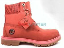 "Timberland Women 6""Inch LIMITED EDITION Dark Pink Waterproof Double Boot A1WFJ"