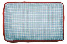 Creature Clothes - Dog Bed Cover - Summer Check/Red Fleece - Handmade in the UK
