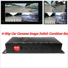 4-Way IR Control Video Switch Parking Camera 4View Image Split-Screen ControlBox