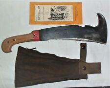Vintage Woodsman's Pal 481 w/ Green Canvas Sheath & Booklet