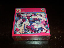 """VINTAGE 80s SNEAKERS SOCKS 75 PUZZLE 7""""X9"""" COMPLETE NEW 1988"""