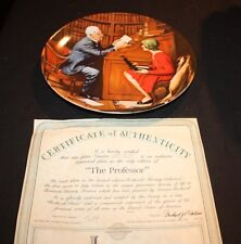 Bradford Exchange Plate Norman Rockwell The Professor / 1986 Cp50