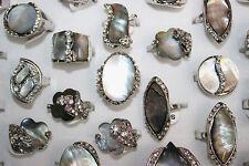 Job Lots 25pcs Rhinestone&Nature shell Charm Party Gift Lady's rings