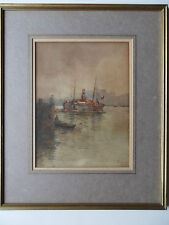 FREDERICK WILLIAM SCARBROUGH (SCARBOROUGH) 1860-1939 SIGNED PAINTING LONDON POOL