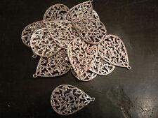 lot de 19 decors en forme de goutte argenté pour fabrication bijoux