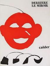 CALDER - DERRIERE LE MIROIR #221 - ORIGINAL LITHOGRAPH - 1976  -  SPECIAL $ 40 !
