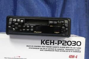 Pioneer KEH-P2030 inDash Cassette Receiver FM/AM Radio SuperTuner Detach Face