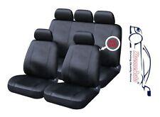 9 PCE Full Set of Black Leather Look Seat Covers for Skoda Fabia Octavia Citigo