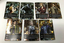 Resident Evil Deck Building Game Rare 7 Card Promo Pack of PR & CH Characters