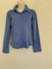 Blue Collared Women Office Stretchy Shirt S