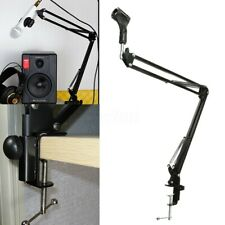 Microphone Suspension Boom Arm Stand Scissor Mic Holder for Broadcast  * -