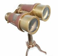 New 6 Inch Binoculars Telescope on Stand Nautical Collectible