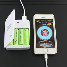 Portable Power Bank 4X AA Battery Travel Emergency USB Charger for Cell Phone