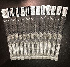 GOLF PRIDE MCC PLUS 4 GRIPS Grey/Black X13 STD Size With Tape And Instructions