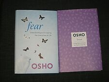 LOT 2 OSHO HARD COVER BOOKS FEAR 2012 AND TRUST 2017