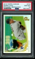 2013 Topps Chrome Gerrit Cole RC Refractor #210 PSA 10 Gem Mint Pitching Rookie