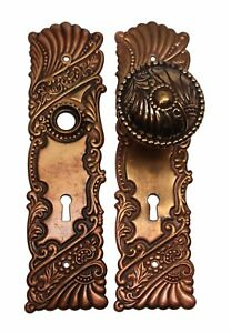 Roanoke Polished Brass Closet Door Knob Set