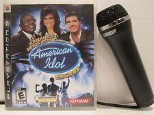 Konami Playstation Microphone (PS2,PS3,XBOX 360,Wii) plus American Idol PS3
