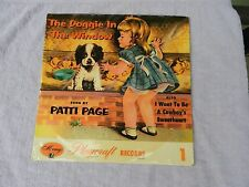 PATTI PAGE The Doggie In the Window - I Want To Be A Cowboy's Sweetheart Record