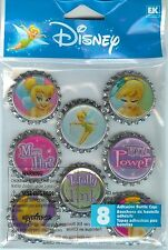 Disney EK Success PIXIE TINKERBELL BOTTLE CAPS  nip Scrapbook Craft