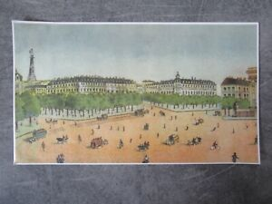 DECOR DE FOND ANCIEN PAPIER CBG MIGNOT = BELLE VUE PARISIENNE - 14,5 X 25 CM