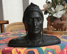 Bronze sculpture 19th century rare Bust of Dante Alighieri, NOW REDUCED TO SELL!
