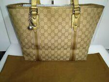 Gucci GG Logo Sherry Line Canvas Monogram Large Tote Designer Handbag - Satchel