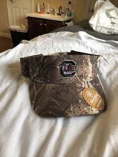 South carolina gamecocks football RealTree camo visor top of the world brand