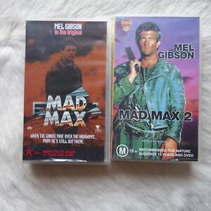 MAD MAX 1 & 2 2 Pack VHS Video Tape MEL GIBSON Action HORROR Adventure Sci-Fi