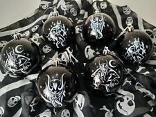 Juego 12 Navidad Decoraciones Negro Bolas cráneos/carruaje Gótico/Metal/Alternativo