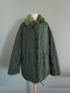 NWT ISSEY MIYAKE green pleated reversible faux fur oversized coat S
