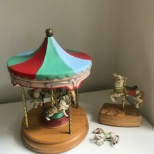 Americana Carousel Tobin Fraley 4-Horse Musical Merry-Go-Round Willitts