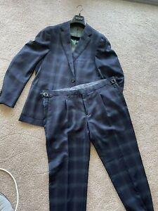 MJ Bale Suit Slim Suit Belviso 46/40 - Navy/Green - Brand New!