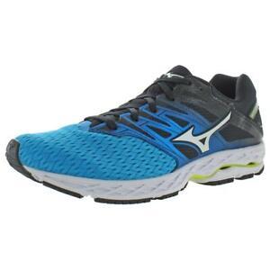 Mizuno Mens Wave Shadow 2 Blue Gym Running Shoes Sneakers 8 Medium (D) BHFO 4707