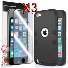 AU Tough Hard Heavy Duty Case Cover for iPod Touch 6 5 Gen Build-in screen Black