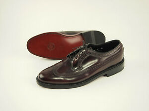 New Florsheim dark burgundy wingtips 11 EEE