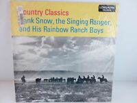 HANK SNOW The Singing Ranger Country Classics Factory Sealed Vinyl 1956 Mono LP