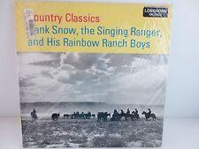 HANK SNOW The Singing Ranger Country Classics Factory Sealed Vinyl 1956 Mono LP